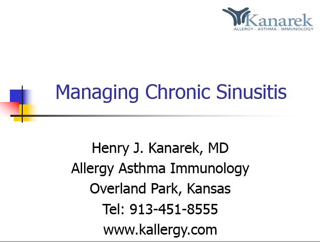 dr-kanarek-managing-chronic-sinusitis-presentation