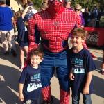 Spiderman with Kids at FARE Walk Kansas City